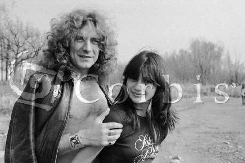 Robert Plant and Audrey Hamilton