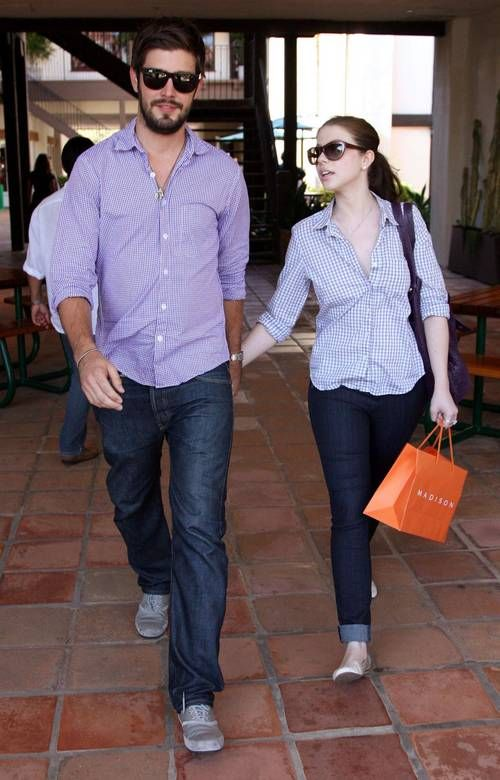 Michelle Trachtenberg and Scott Sanford